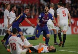 """Nepalaužiama: """"Barca"""" per dvi minutes panaikino dviejų įvarčių deficitą Sevilijoje (VIDEO)"""