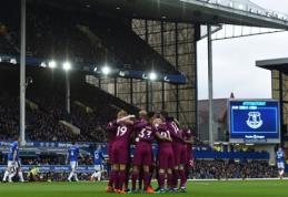 """""""Man City"""" - per žingsnį nuo čempionų titulo, """"Man Utd"""" pamokė """"gulbes"""" (VIDEO)"""