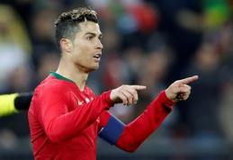 C.Ronaldo pakilo į trečiąją vietą rezultatyviausių rinktinių žaidėjų tarpe