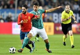 Vokietija ir Ispanija išsiskyrė lygiosiomis, C. Ronaldo per pridėtą laiką atnešė pergalę portugalams (VIDEO)