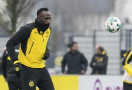 """U. Boltas plušo treniruotėje kartu su """"Borussia"""" žaidėjais (VIDEO, FOTO)"""