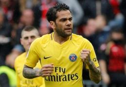 """PSG įveikė """"Nice"""", """"Lyon"""" rungtynių pabaigoje palaužė """"Marseille"""" (VIDEO)"""