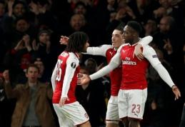 """""""Arsenal"""" dar kartą įveikė """"Milan"""", """"Borussia"""" ir """"Lyon"""" baigė savo pasirodymą (VIDEO)"""
