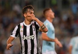"""P. Dybala per pridėtą teisėjo laiką atnešė pergalę """"Juventus"""", """"Roma"""" atsigavo po šalto dušo ir įtikinamai įveikė """"Napoli""""  (VIDEO)"""