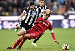 """Rezultatais gerbėjus šiurpinanti """"Udinese"""" išplatino atsiprašymo laišką"""