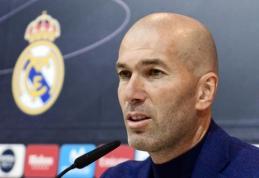 """Staigmena iš Madrido: Z. Zidane'as paskelbė, kad palieka """"Real"""""""