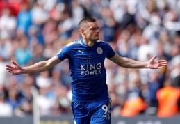 """""""Leicester City"""" bando pratęsti kontraktą su J.Vardy"""