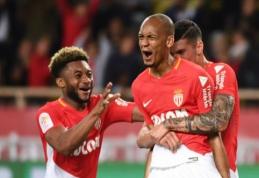 """""""Lyon"""" kluptelėjimu pasinaudojusi """"Monaco"""" sugrįžo į antrą vietą, PSG dovanojo taškus """"Rennes"""" (VIDEO)"""