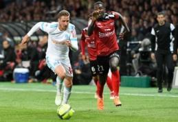"""Dviejų įvarčių persvarą iššvaisčiusi """"Marseille"""" prarado taškus (VIDEO)"""