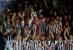 """Italijos taurės finale – M. Benatia dublis ir triuškinama """"Juventus"""" pergalė (VIDEO)"""