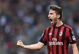 """""""Milan"""" susitvarkė su iš """"Serie A"""" krentančia """"Hellas"""", atsitiesusi """"Juventus"""" įveikė """"Bologna"""" (VIDEO)"""