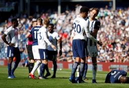 """""""West Brom"""" patiesė """"Spurs"""", """"Southampton"""" paskutinę minutę išleido pergalę prieš """"Everton"""" (VIDEO)"""
