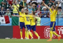 Švedai sutriuškino Meksiką, tačiau jos abi keliauja į kitą etapą (VIDEO)