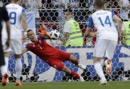 Islandų vartininkas atskleidė, kaip jam pavyko apsiginti nuo L.Messi smūgio (VIDEO)