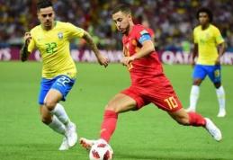 E. Hazardas prieš brazilus pasiekė geriausią rezultatą nuo 1966-ųjų