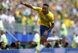 Neymaro vedama Brazilija eliminavo meksikiečius ir žengė į ketvirtfinalį