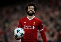 """Džiaugsmas """"Liverpool"""" stovykloje: M. Salah pasirašė ilgalaikį kontraktą su """"raudonaisiais"""""""
