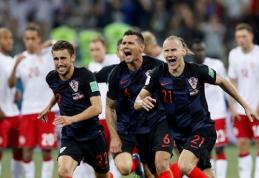Vartininkų šou pažymėtame mače kroatai namo išsiuntė Danijos ekipą (VIDEO)