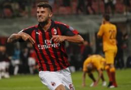 """Pirmieji """"Milan"""" taškai: P. Cutrone'o įvartis 95-ąją minutę padovanojo pergalę prieš """"Roma"""""""