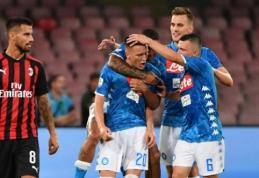 """Dviejų įvarčių deficitą panaikinusi """"Napoli"""" susitvarkė su """"Milan"""""""