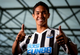 """Oficialu: """"Newcastle"""" pasirašė sutartį su Japonijos rinktinės puolėju"""