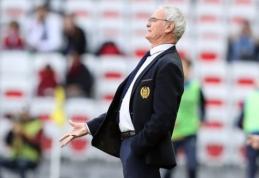 """Apie galimybe treniruoti """"Roma"""" paklaustas C. Ranieri: """"Tikiuosi, kad Di Francesco nebus atleistas"""""""