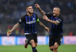 """Čempionų lygos starte - dramatiška """"Inter"""" pergalė ir L. Messi """"hat-trickas"""" į PSV vartus"""
