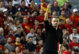 """L. Enrique: """"Rinktinės pagrindą sudaro Madrido """"Real"""" žaidėjai"""""""
