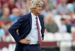 """Paskutinę vietą """"Premier"""" lygoje užimantis """"West Ham"""" neskuba atleisti M. Pellegrini"""