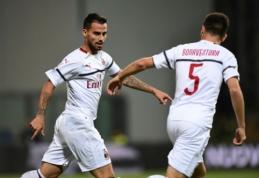 """""""Milan"""" į pergalių kelią sugrįžo sutriuškinus """"Sassuolo"""", """"Fiorentina"""" įveikė """"Atalanta"""""""