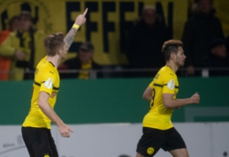 """Vokietijos taurė: """"Borussia"""" antrosios lygos ekipą nugalėjo tik po pratęsimo"""