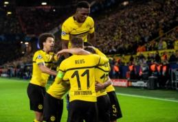 """""""Atletico"""" buvo pažemintas Dortmunde, """"Barca"""" įveikė """"Inter"""", o PSG išsigelbėjo pačioje mačo pabaigoje"""