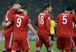 """""""Bayern"""" antrajame kėlinyje perlaužė graikišką AEK riešutą"""