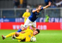 Italijos ir Ukrainos rinktinių susitikime - lygiosios
