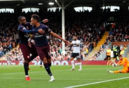 """""""Arsenal"""" pasiekė triuškinančią pergalę prieš """"Fulham"""", """"Chelsea"""" neturėjo sunkumų Sautamptone"""