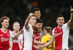 """ČL: """"Ajax"""" užsitikrino vietą aštuntfinalyje, """"Viktoria"""" pražudė rusų svajones"""
