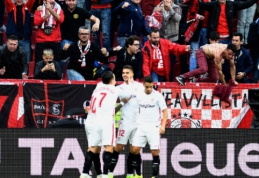 """""""Sevilla"""" kyla į pirmąją poziciją Ispanijos pirmenybėse, """"Girona"""" patiesė """"Espanyol"""""""