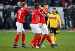 Įspūdingai po dviejų praleistų įvarčių atsitiesusi Šveicarija paliko belgus antroje pozicijoje