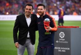 """Xavi: """"Messi gali žaisti iki 40-ies metų"""""""