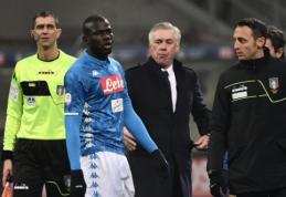 """C. Ancelotti po rasizmo protrūkio Milane: """"Kitą kartą išeisime iš aikštės"""""""
