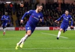 """E. Hazardo dublis atvedė """"Chelsea"""" į pergalę, """"Brighton"""" atėmė du taškus iš """"Arsenal"""""""