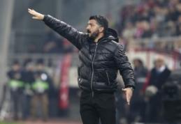 """G. Gattuso: """"Nusipelnėme būti išmesti iš Europos lygos"""""""