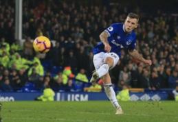 """Puikus L. Digne baudos smūgis atnešė tašką """"Everton"""" komandai"""