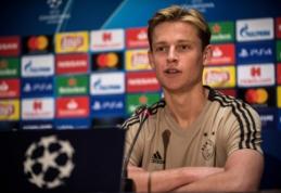 Aiškėja kita F. de Jongo karjeros stotelė: už olandą bus pakloti 75 mln. eurų