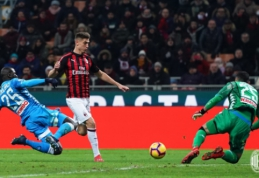 """K. Piatekas sėkmės negarantavo: """"AC Milan"""" ir """"Napoli"""" sužaidė lygiosiomis"""
