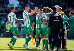 """""""Real Betis"""" mačo pabaigoje palaužė """"Gironą"""", """"Real Sociedad"""" pasiekė lygiąsias Madride"""
