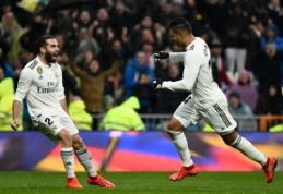 """Saugų įvarčiai atvedė """"Real"""" į pergalę mače su """"Sevilla"""", """"Atletico"""" neturėjo sunkumų Hueskoje"""