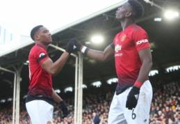 """P. Pogba vėl mušė įvarčius, o """"Man Utd"""" pasiekė pergalę Londone"""
