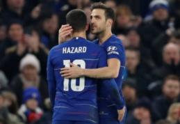 """C. Fabregasas mano, kad E. Hazardas liks """"Chelsea"""" gretose"""