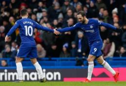 """Prabilęs G. Higuaino ir E. Hazardo duetas nepaliko vilčių """"Huddersfield"""" ekipai"""